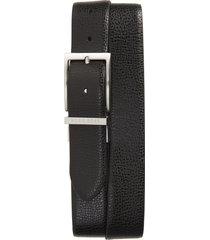 men's boss ollie reversible leather belt, size 44 - black/dark brown