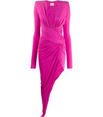 alexandre vauthier asymmetric jersey gown - pink