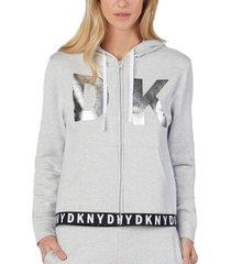 dkny logo lock up hoodie long sleeve * gratis verzending *