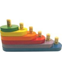 brinquedo carimbras escada divertida multicolorido