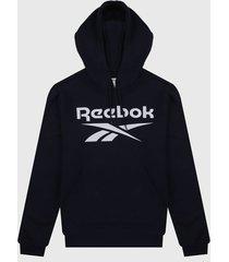 buzo azul navy-blanco reebok identity big logo