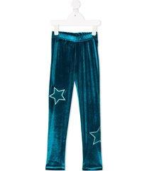 raspberry plum galaxy star-print leggings - green
