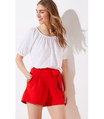 loft tie waist stretch pull on shorts