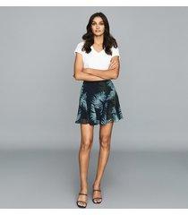 reiss amelie - printed mini skirt in multi, womens, size 12