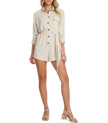 willow tessa utility romper, size large in sand at nordstrom