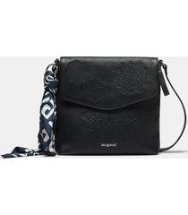 square crossbody bag - black - u