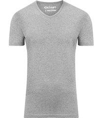 garage basis t-shirt v-hals bodyfit grijs