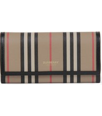 burberry wallet with iconic striped print