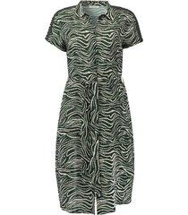 bladprint jurk groen