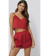 na-kd lingerie shorts - red