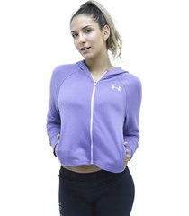 buzos morado under armour buzo finale full zip