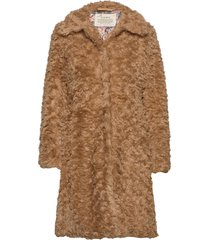 amandine long jacket outerwear faux fur beige odd molly