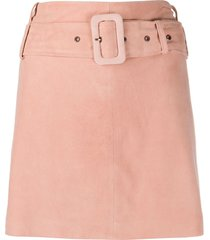 arma belted mini skirt - pink