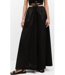 mango women's cotton flared skirt