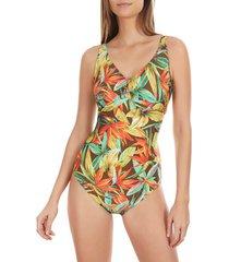 badpak selmark 1-delige badpak shapewear bird of paradise mare