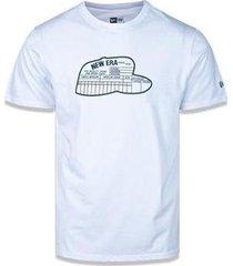 camiseta manga curta heritage size chart branco new era - masculino