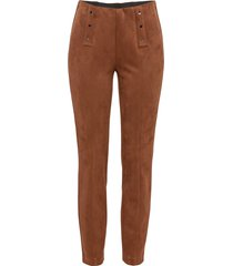 pantaloni in similpelle (marrone) - bodyflirt