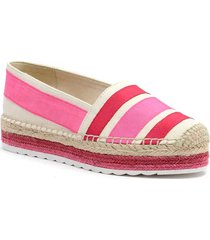alpargata casual sara rosa nine west