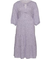 rouse8 knälång klänning lila violeta by mango