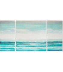 madison park teal tides 3-pc. gel-coated canvas print set