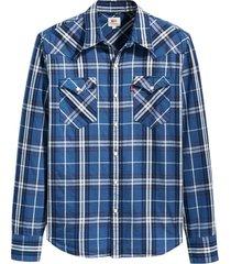 hemd blauw geruit shirt