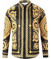 3d impresión camiseta de manga larga tendencia tallado flor de oro de hombres camiseta cardigan