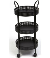 mind reader 3-tier metal multi-purpose utility cart