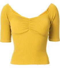 muller of yoshiokubo ribbed swim top - yellow