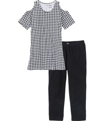pigiama con leggings a pinocchietto (nero) - bpc bonprix collection