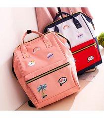 mochilas/ mochila de bordado moda mariposa mujeres-rosa