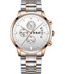 reloj b ray 9001 cronografo -  blanco