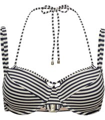 md holi vintage padd.balc. bikini top bikinitop blå marlies dekkers