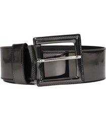 b-low the belt ana silver shinny belt