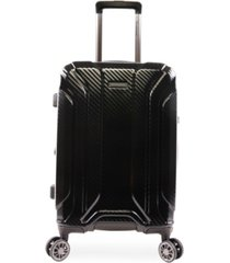 "brookstone keane 21"" hardside carry-on luggage with charging port"