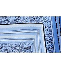 women's free people hampton tie front midi skirt, size small - blue