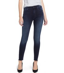 women's mother the looker high waist frayed ankle skinny jeans