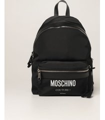 moschino couture backpack moschino couture backpack in canvas with logo