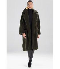 natori faux shearling jacket, women's, size xs