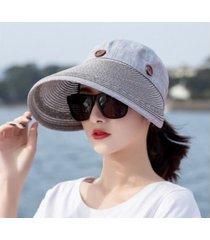 mujer verano sol al aire libre sombrero gris