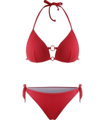 o ring tie side halter bikini swimwear
