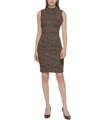 calvin klein tie-neck sheath dress