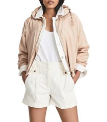 women's reiss tomy toggle jacket, size 2 us - pink