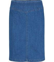gonna di jeans elasticizzata con cinta modellante (blu) - john baner jeanswear
