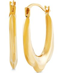 tulip hoop earrings in 14k gold