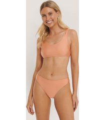 na-kd swimwear sporty bikini briefs - orange
