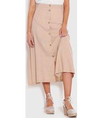 falda wados solid beige - calce regular
