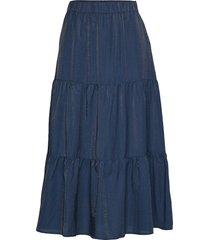 poppy lång kjol blå six ames