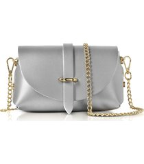 gisèle 39 designer handbags, caviar metallic leather mini shoulder bag