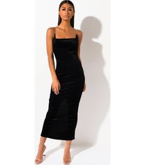 akira just a little velvet maxi dress
