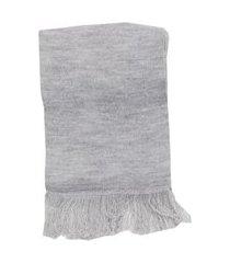 cachecol de trico lazy cinza